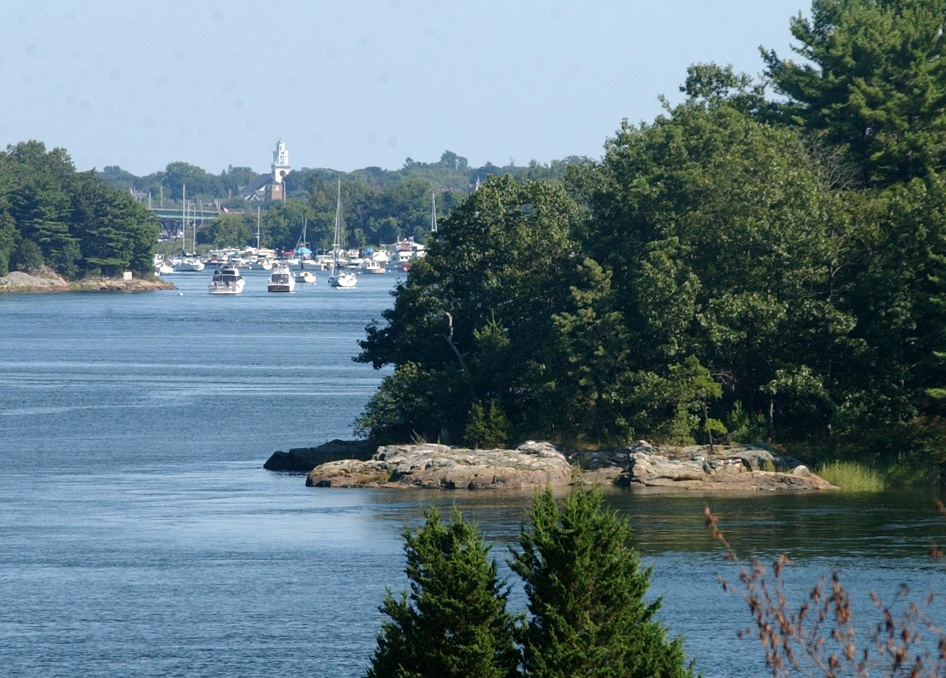Merrimack River with islands