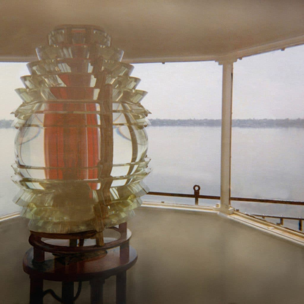 Fresnel Lens in its original location before decommissioning.